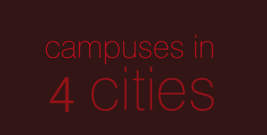 6 campuses in 4 cities