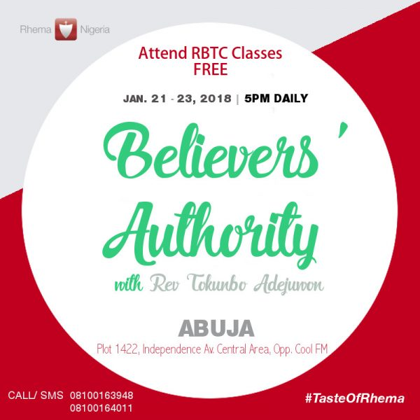 Believers' Authority FREE Taster Course with Rev Tokunbo Adejuwon