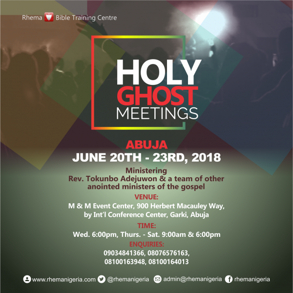 Holy Ghost Meetings 2018 @Abuja @ M 7 M Event Center