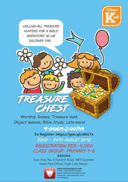 Rhema Kids Treasure Chest (Kaduna) @ RBTC Office