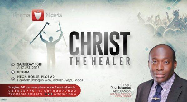 Christ the Healer - RBTC Taster Session Lagos @ NECA House