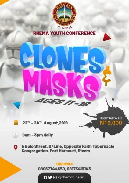 RHEMA Youth Camp - Clones and Masks