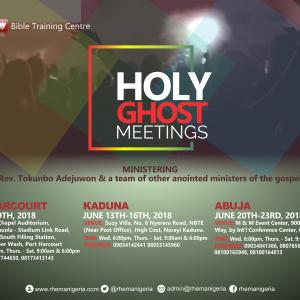 Holy Ghost Meetings 2018